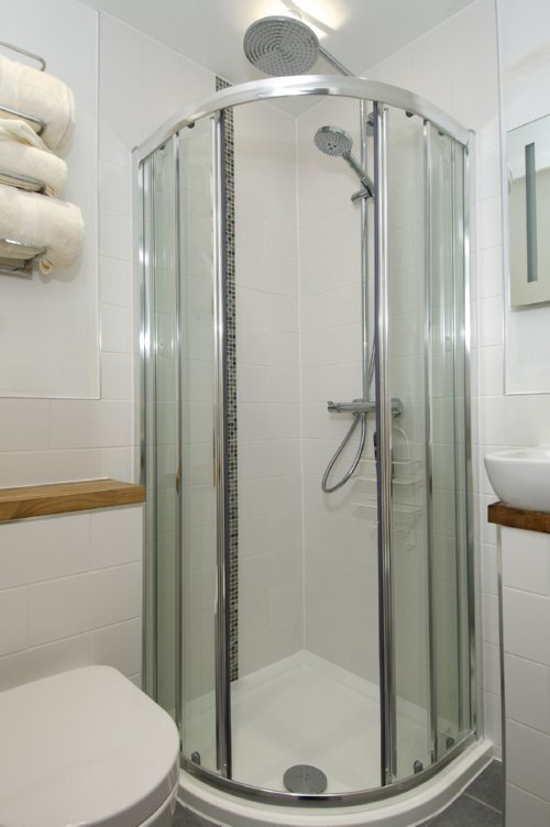 Image of The Greenhouse Bristol EcoSmart Raindance Select 240 Showerpipe with swivelling shower arm