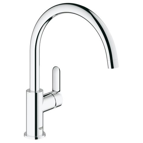 Grohe Bauedge Single Lever Swivel Spout 360 Chrome Kitchen Mixer Tap