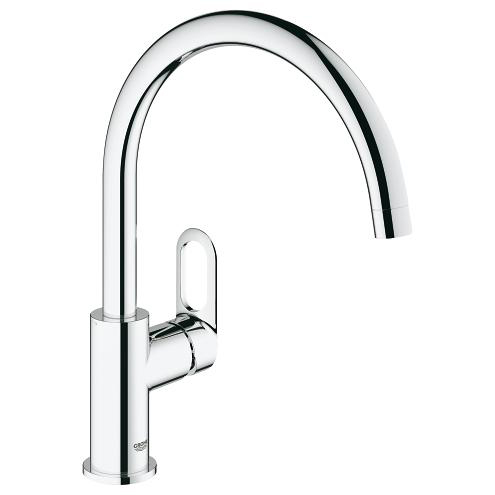 Grohe BauLoop Single Lever Swivel Spout 360 Kitchen Tap 31368000 Main