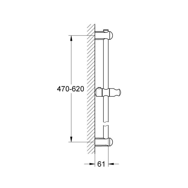 Grohe Euphoria Shower Bar 27499000 dimension