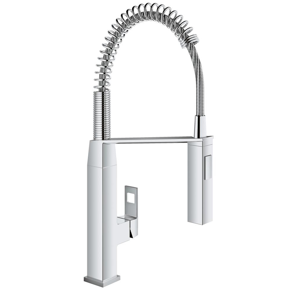 Grohe EuroCube With Pull-out Spray Single Lever Swivel Spout 140 ...