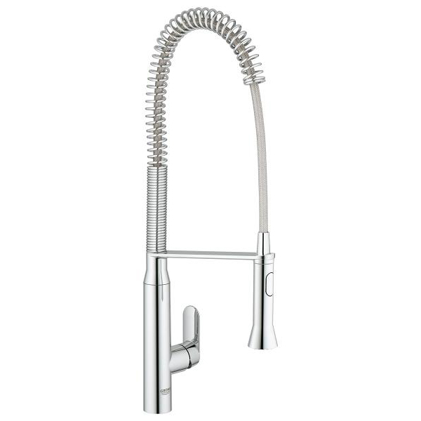 Grohe K7 Single Lever Swivel Extra High Spout 140 Kitchen Tap 32950000 Main