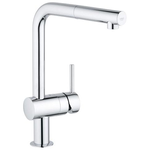 Grohe Minta With Pull Out Spray Single Lever Swivel Spout 360 Chrome