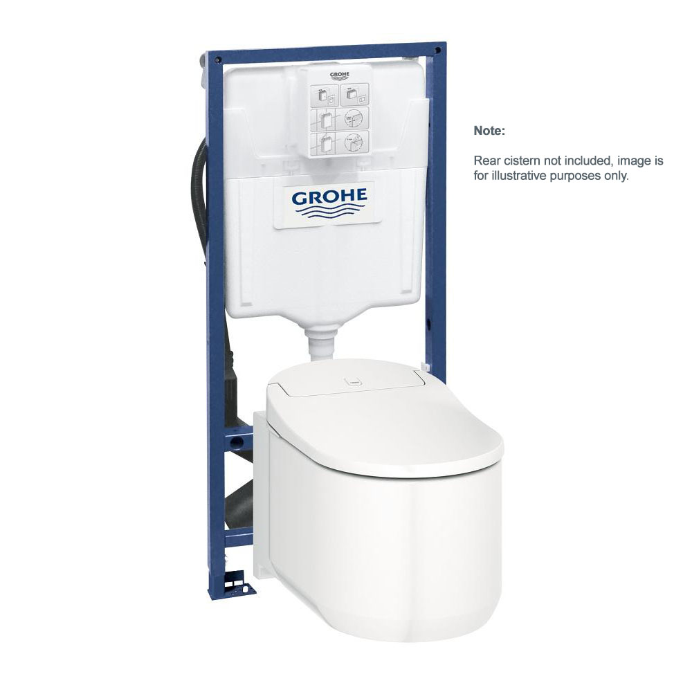 grohe sensia arena shower toilet alpine white wall hung 39354sho. Black Bedroom Furniture Sets. Home Design Ideas