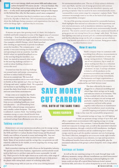 Guardian PQ magazine feature with SaveMoneyCutCarbon.com