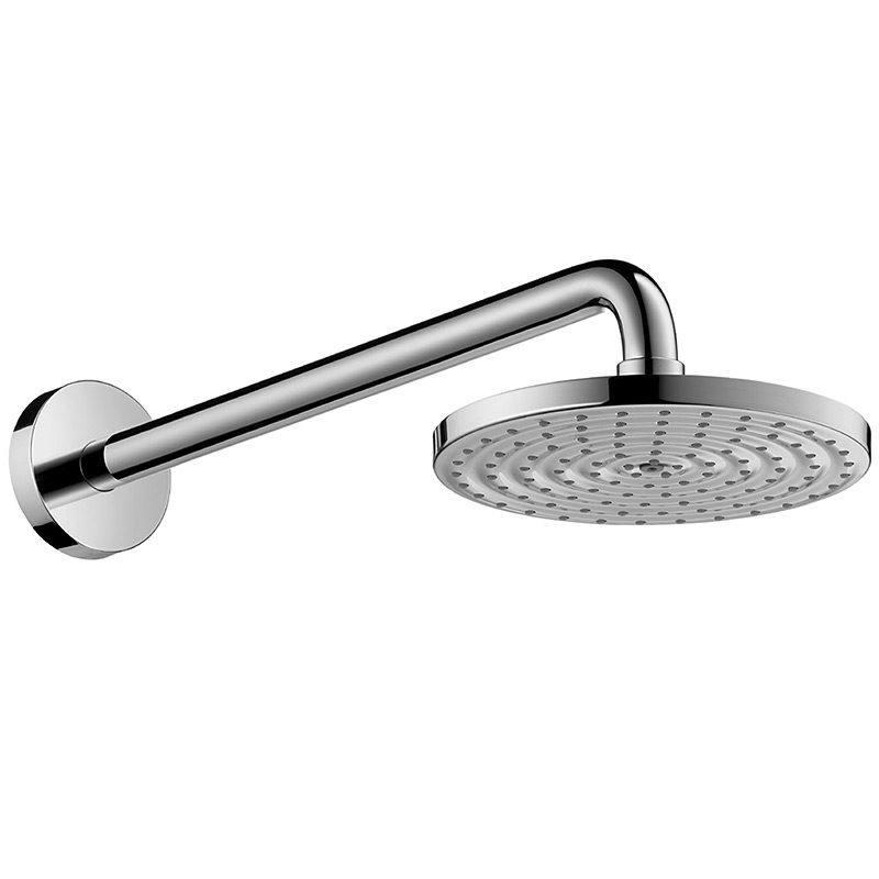 hansgrohe 180 raindance air ecosmart rain shower head with short shower arm