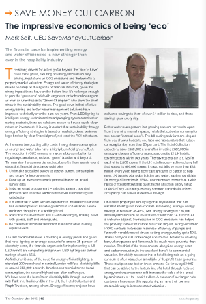 Mark Sait article on hotel energy efficiency savings in HOSPA Overview magazine
