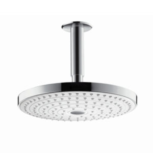 Hansgrohe Raindance Select S 240 EcoSmart Rain Chrome Shower Head with 100mm Ceiling Connector