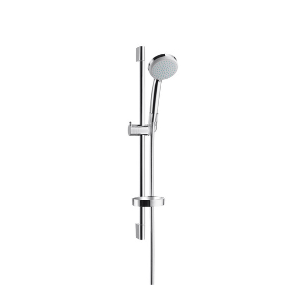 hansgrohe Croma 100 1jet hand shower EcoSmart Unica C Chrome Shower set Main