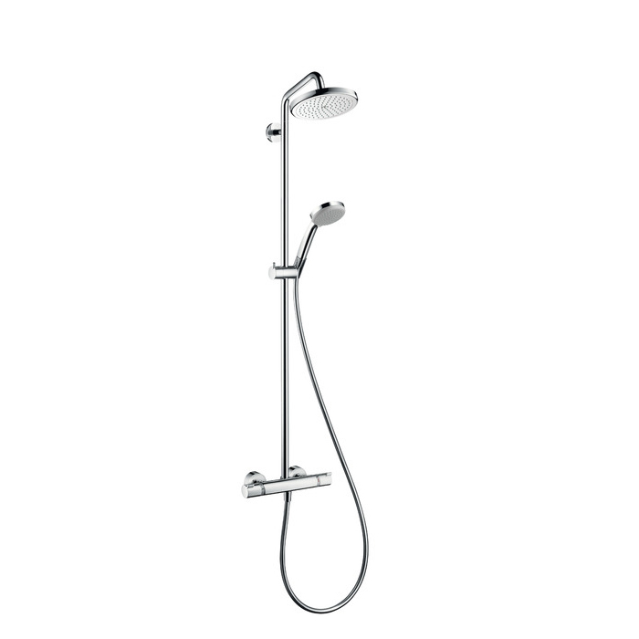 Hansgrohe Croma 220 Air 1jet Showerpipe EcoSmart Chrome