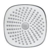Hansgrohe Croma Select E 180 2Jet Chrome and White Overhead EcoSmart Shower