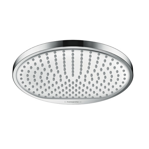 Hansgrohe Crometta S 240 1jet EcoSmart Chrome and White Rain Shower Head - Main