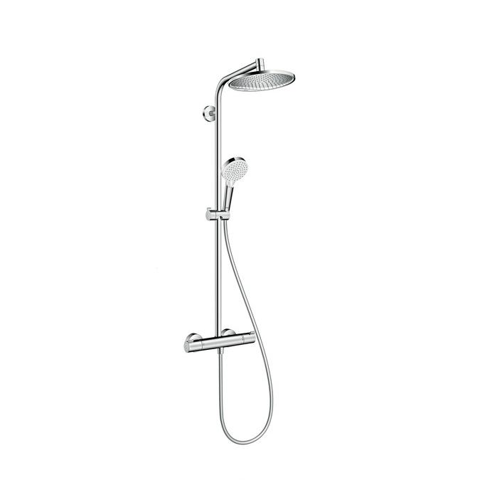 hansgrohe crometta s 240 1jet showerpipe ecosmart chrome