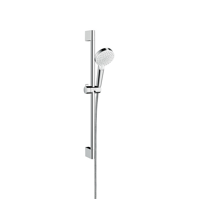 hansgrohe Crometta Vario Unica Chrome and White Shower Set 0.65m - Main