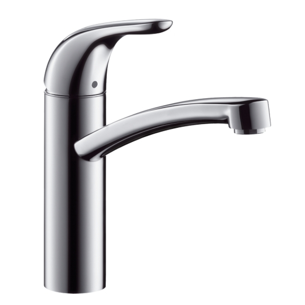 hansgrohe focus e single lever swivel 360 chrome kitchen. Black Bedroom Furniture Sets. Home Design Ideas