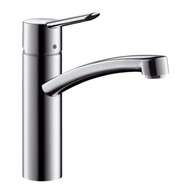 hansgrohe focus s single lever swivel 360 chrome kitchen mixer tap. Black Bedroom Furniture Sets. Home Design Ideas
