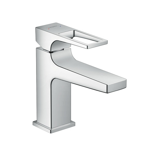 Hansgrohe Metropol Single Lever Small Basin Mixer 100 Push-Open ...