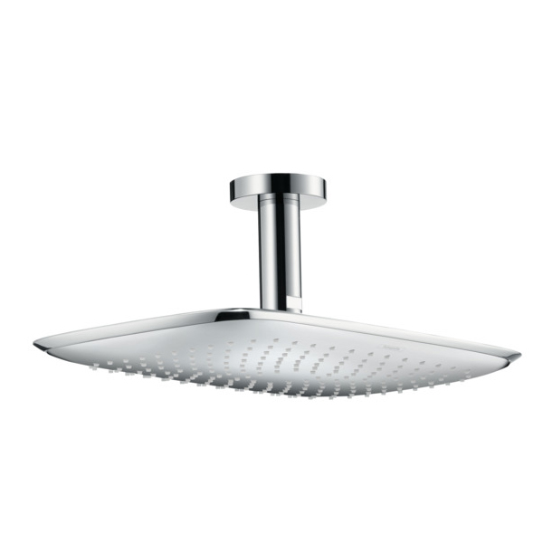 Hansgrohe PuraVida 390 Air 1jet EcoSmart Shower Head with Ceiling Connector Chrome Main