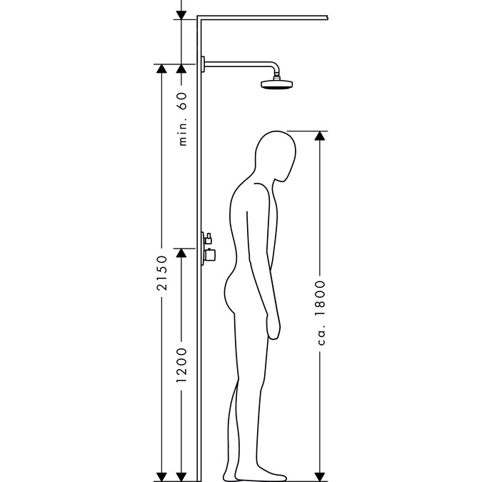hansgrohe raindance select e 300 2jet ecosmart shower head with shower arm white  u0026 chrome