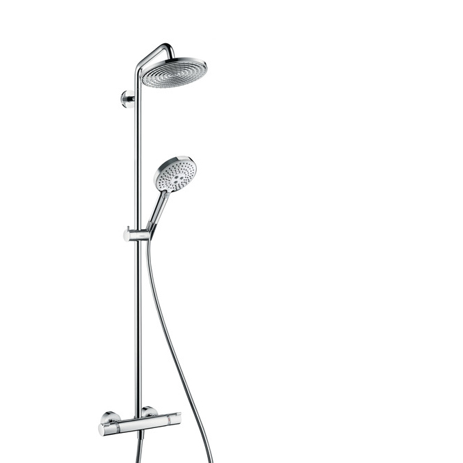 hansgrohe raindance select s 240 1jet showerpipe ecosmart chrome. Black Bedroom Furniture Sets. Home Design Ideas