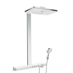 Hansgrohe Rainmaker Select 460 3jet Showerpipe EcoSmart White and Chomre Main