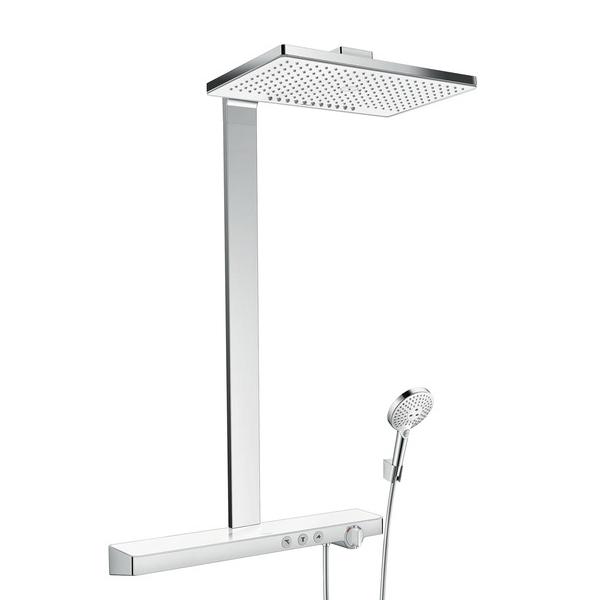 Hansgrohe Rainmaker Select460 2jet Showerpipe EcoSmart White and Chrome Main