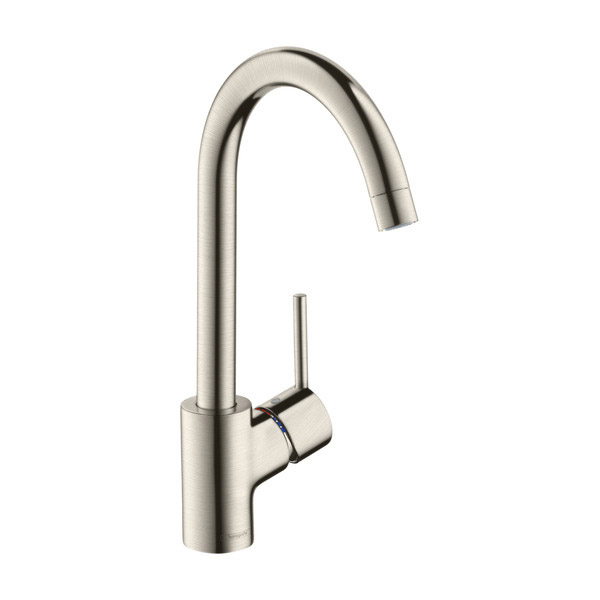 hansgrohe talis s2 variarc single lever swivel spout stainless steel kitchen mixer. Black Bedroom Furniture Sets. Home Design Ideas