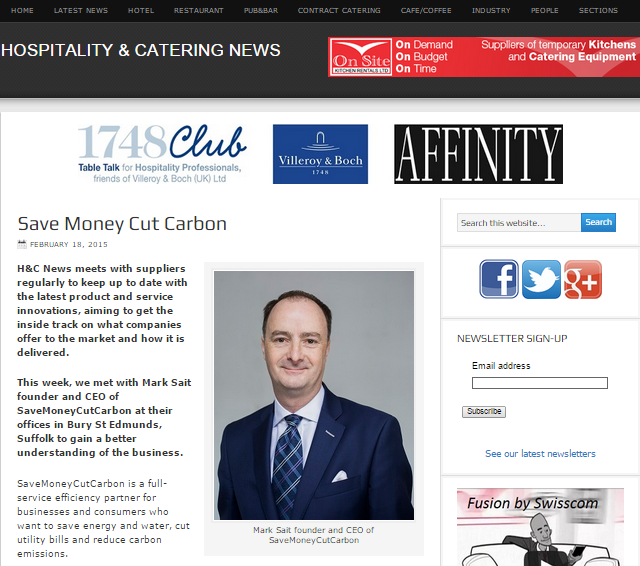 Hospitality & Catering News profile of SaveMoneyCutCarbon
