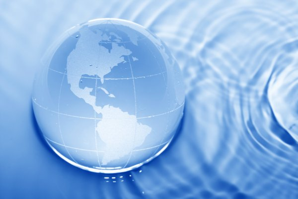 Image of globe and water for SaveMoneyCutCarbon press report