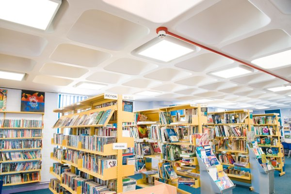 Image of Hugh Faringdon School library LED lighting retrofit
