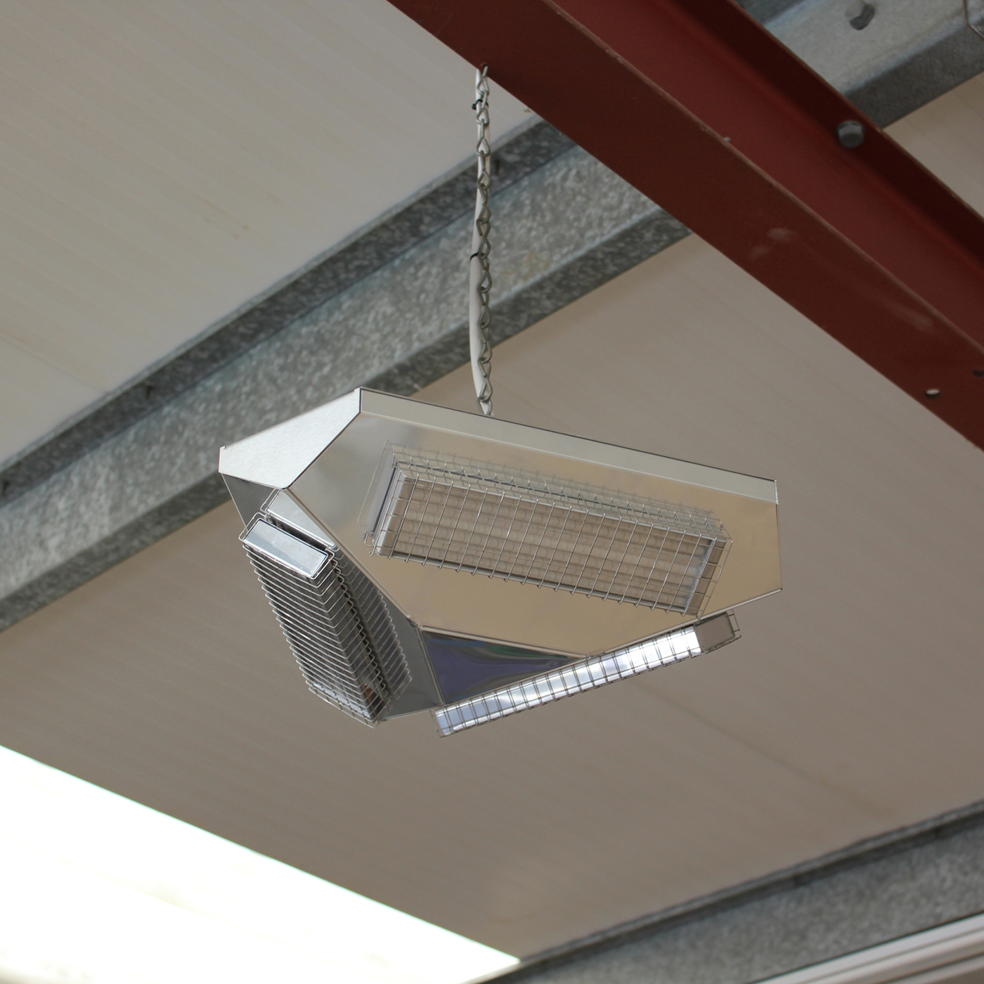 Herschel Advantage Ir360 1950w Silver Far Infrared Ceiling Mounted Workshop Heater