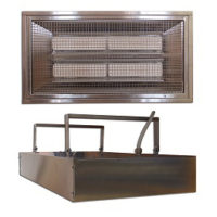 Herschel Advantage IR Power 4 2600W Silver Far Infrared Industrial Heater