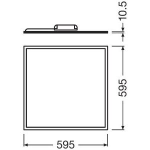 LEDVANCE-Panel-LED-600 Dimension