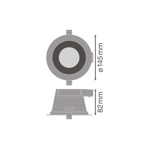 Ledvance Comfort LED Downlight 13W - Dimensions