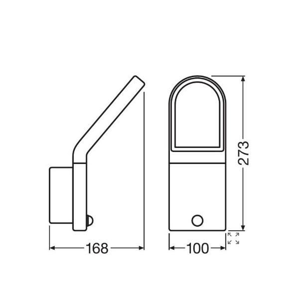 Ledvance Outdoor Facade Edge PIR - Dimension