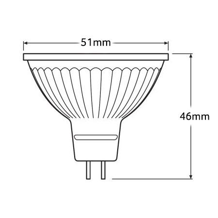 Ledvance Parathom Pro LED Spotlight MR16 - Dimensions