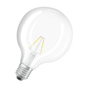 Ledvance Rerofit Classic Globe LED Filament E27 2W 2700K