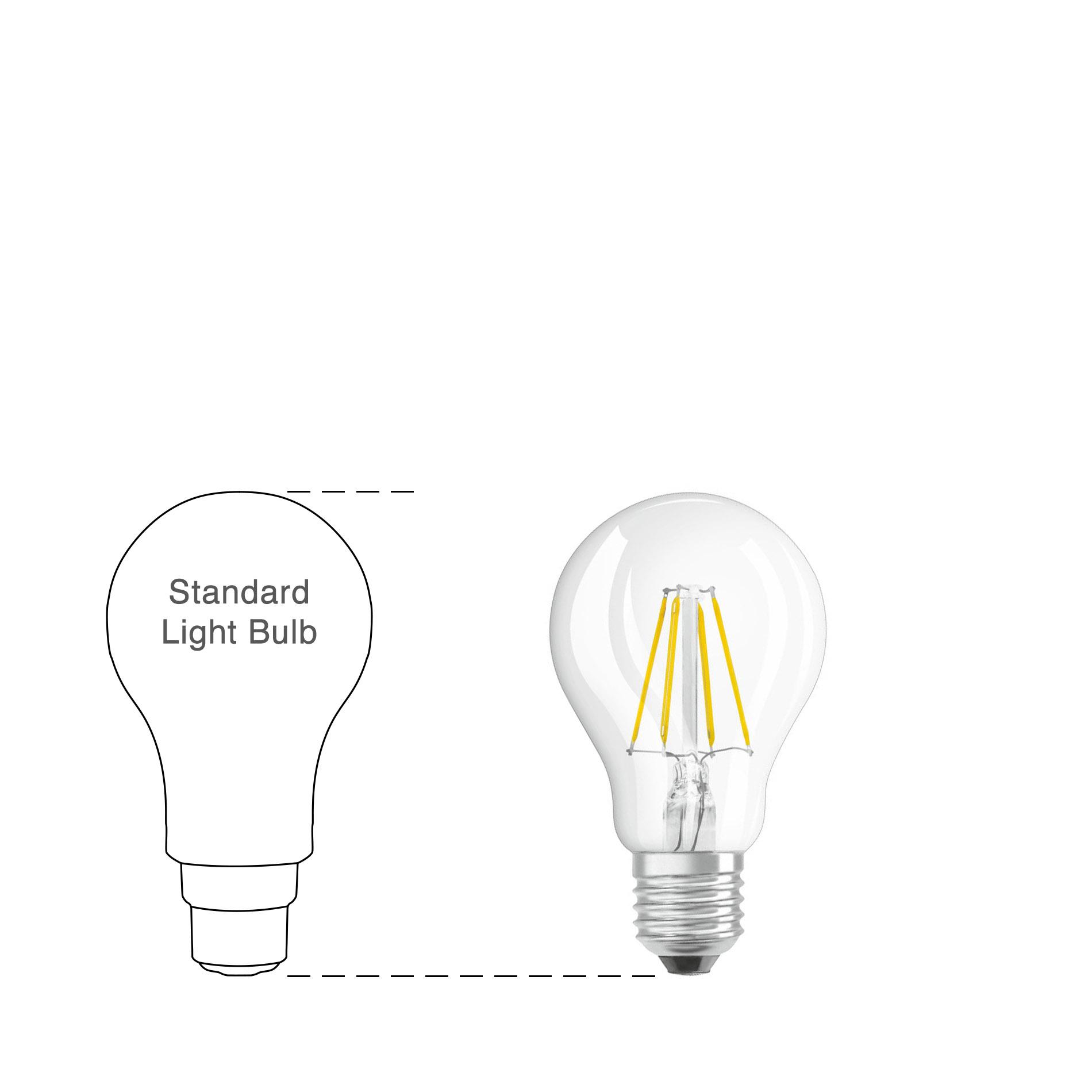 Osram Led Filament Parathom Retrofit Classic A Bulb Clear E27 8w 2700k 4w Fluorescent Lamp Driver