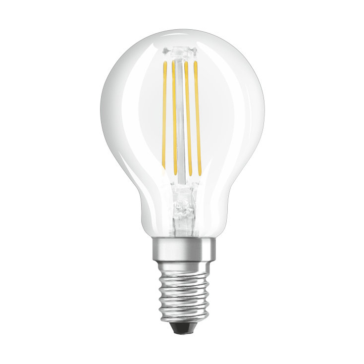osram led filament parathom retrofit classic p bulb clear e14 2w 2700k. Black Bedroom Furniture Sets. Home Design Ideas