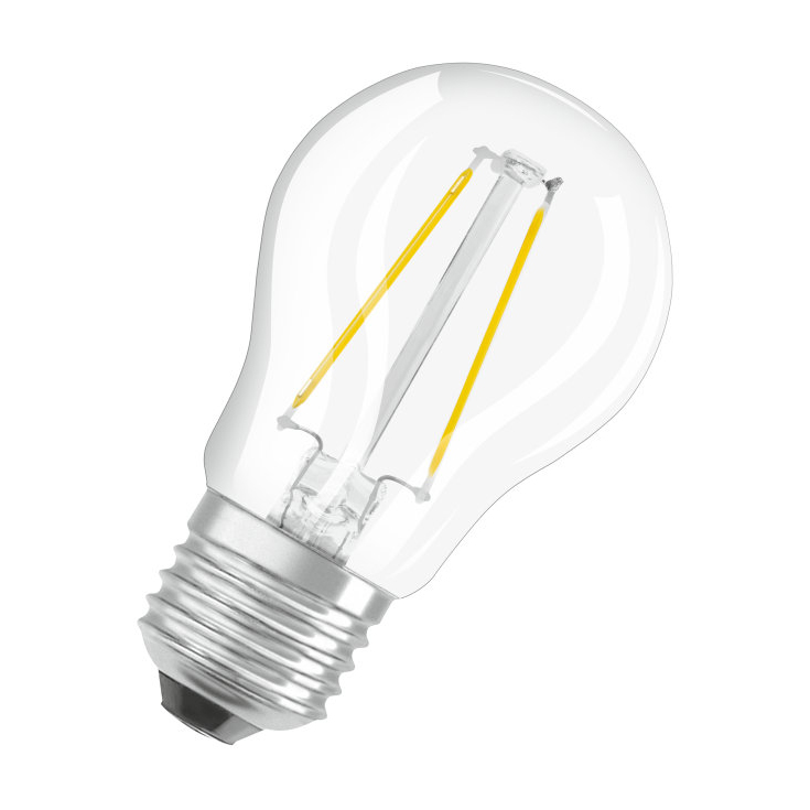 osram led filament parathom retrofit classic p bulb clear e27 2w 2700k. Black Bedroom Furniture Sets. Home Design Ideas
