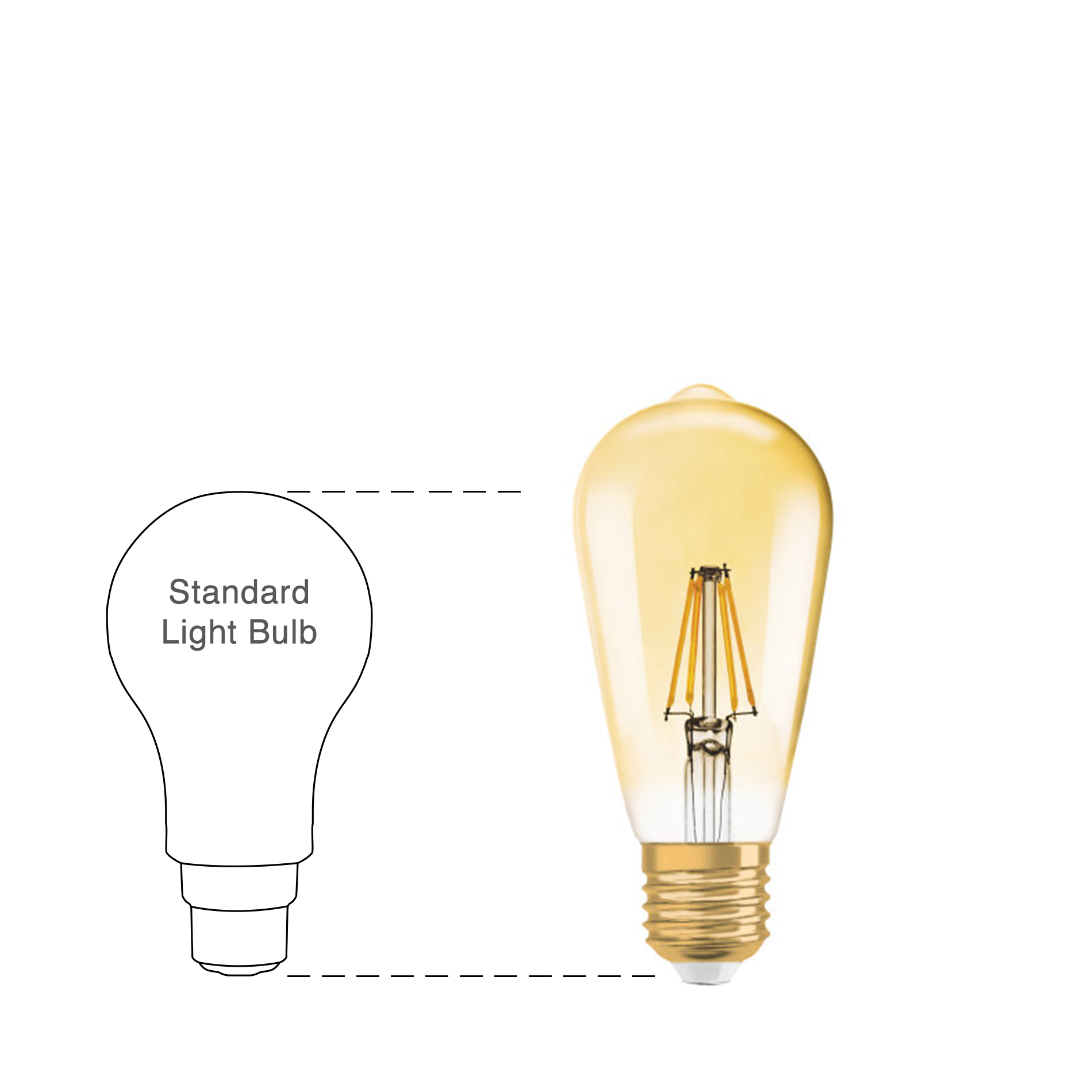 osram large led filament vintage 1906 classic st bulb gold e27 4w 2400k. Black Bedroom Furniture Sets. Home Design Ideas