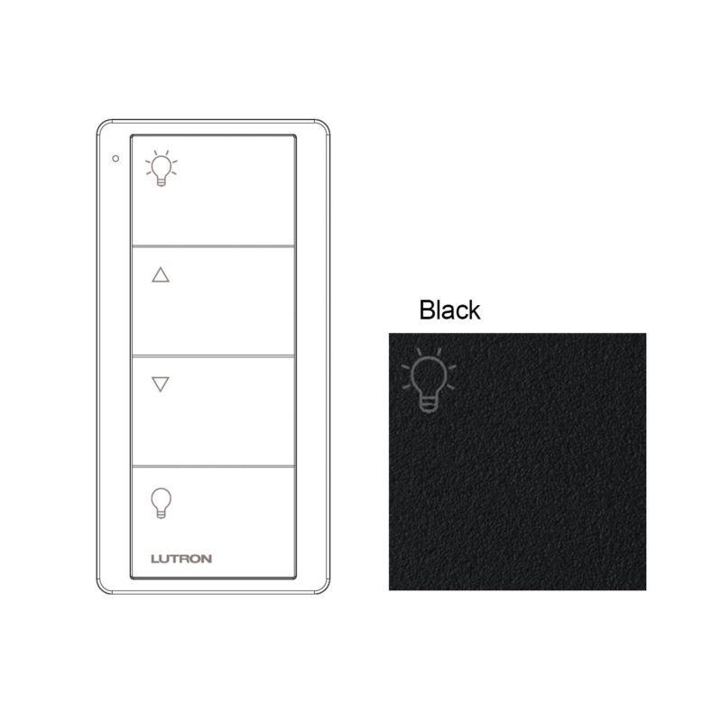 Lutron 4 Button Black