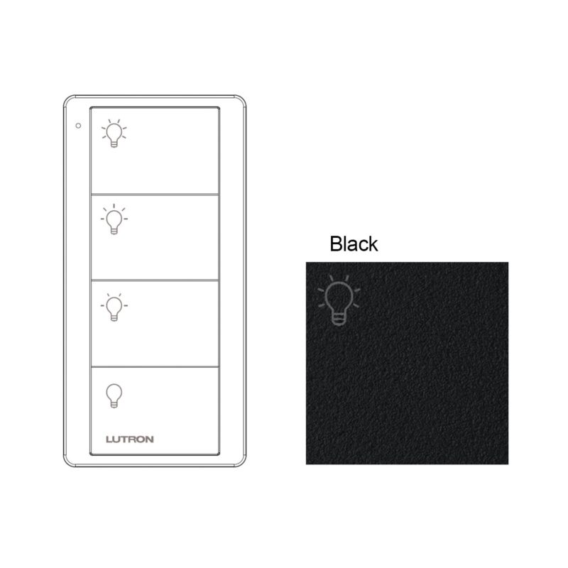 Lutron - 4 Button Black