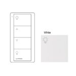 Lutron 4 Button White