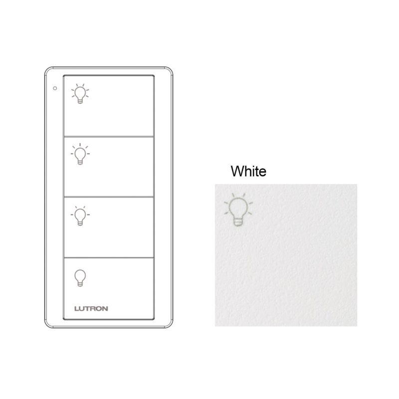 Lutron - 4 Button White