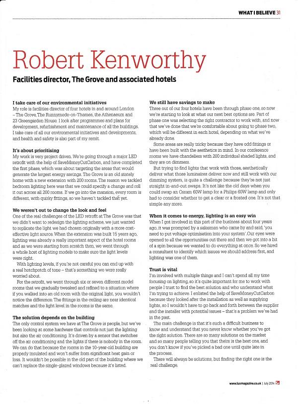 Robert Kenworthy Lux article