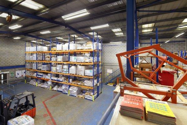 Image of LED lighting retrofit at Menzies Distribution in Weybridge