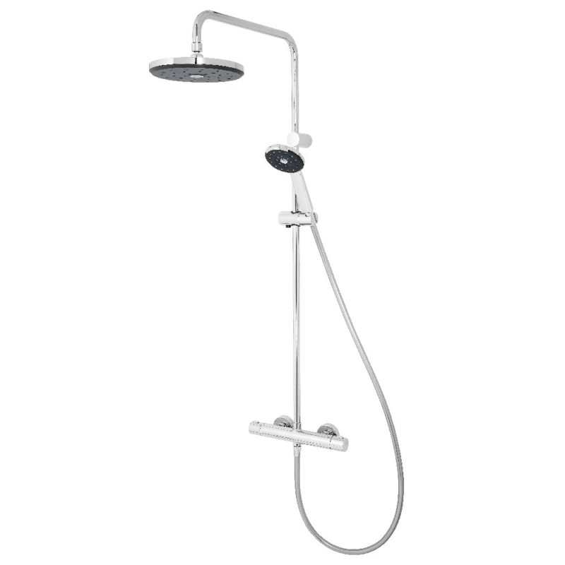 Methven Kiri Satinjet Shower Bar Chrome with Diverter - Main