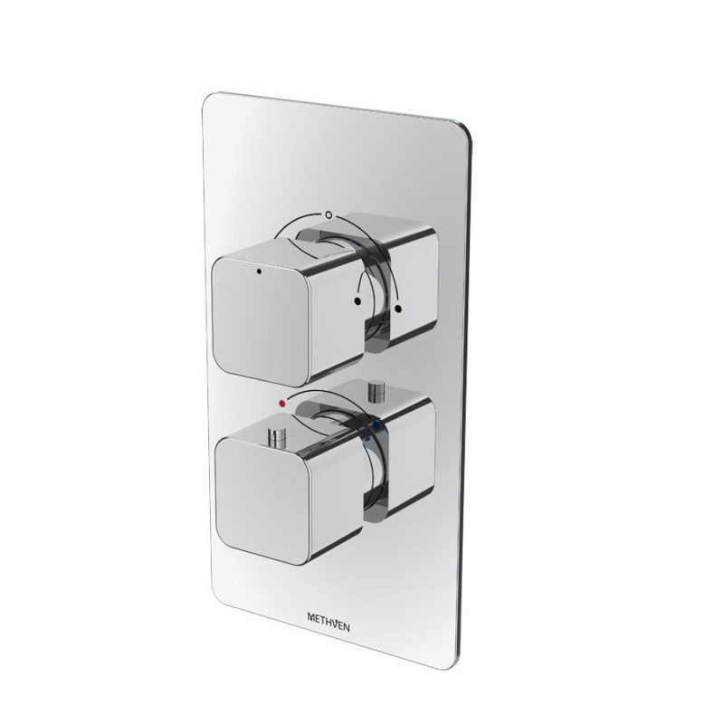 Methven Kiri Thermostatic Mixer Two Outlet for Concealed Installation - Main
