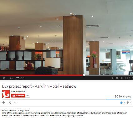 Park Inn Heathrow LED lighting retrofit with SaveMoneyCutCarbon.com